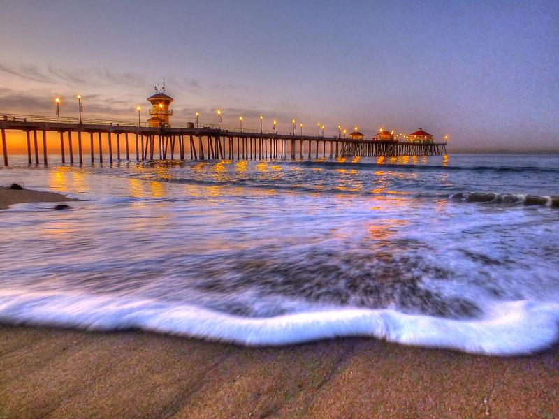 A High Tide Morning Huntington Beach Pier.jpg