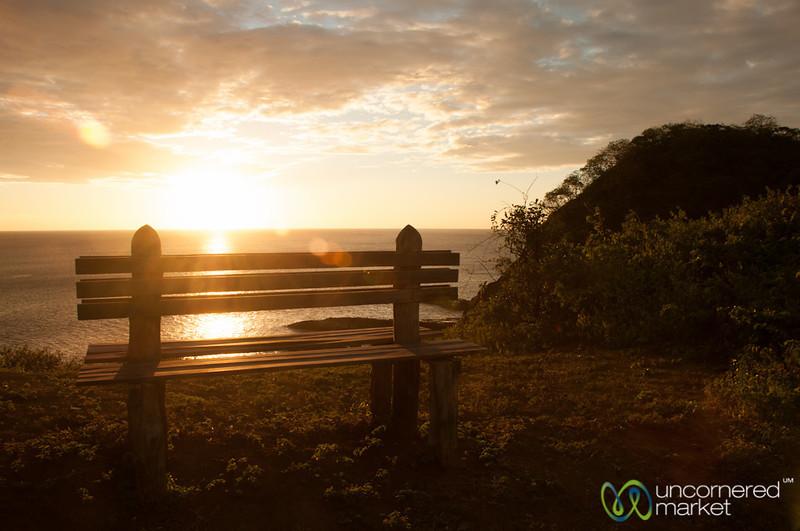 Bench on Sunset Hike at Morgan's Rock - Pacific Coast, Nicaragua