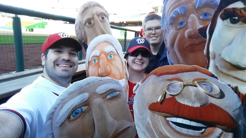 Craig, Joseph, Jenni, and the Racing Presidents in the Nationals dugout