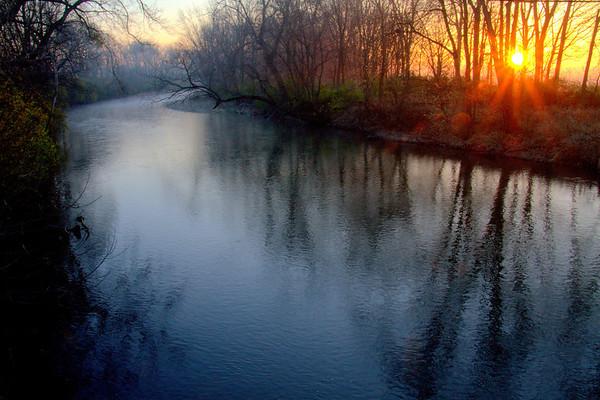 Foggy sunrise #8