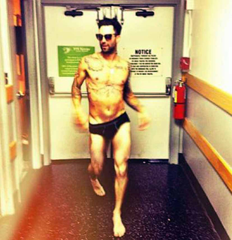 ". \""70\'s porn called. It wants it\'s vibe back. Immediately,\"" wrote Adam Levine\'s fiancee Behati Prinsloo on Instagram."