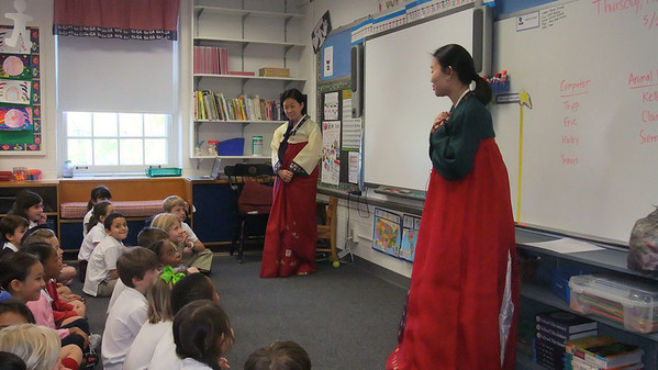 First Grade Celebrates Korean Children's Day