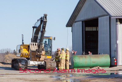 Wayside, WI Shed Fire 03-16-2014