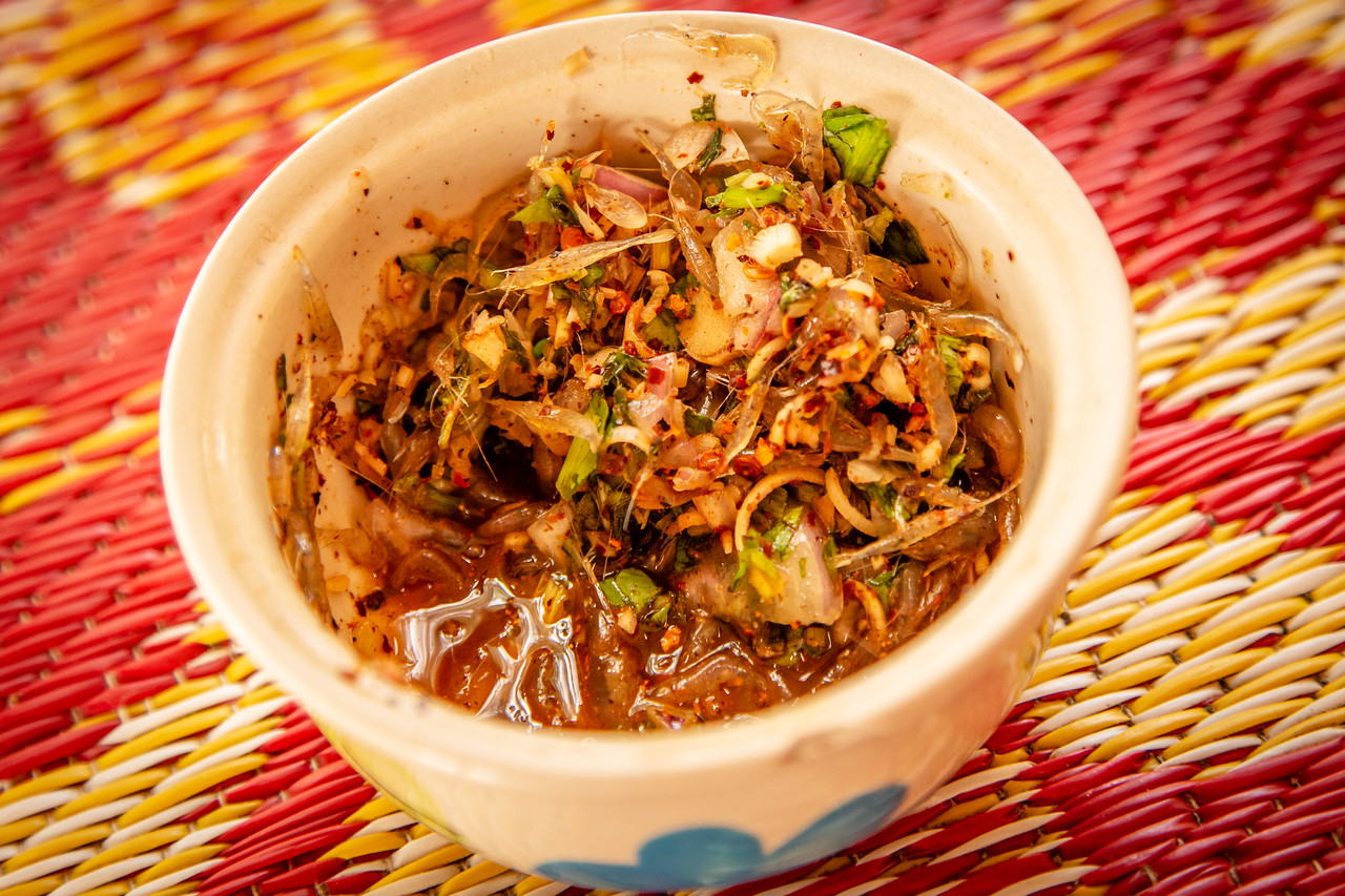 A Bowl of Dancing Shrimp or Goong Ten in Thailand
