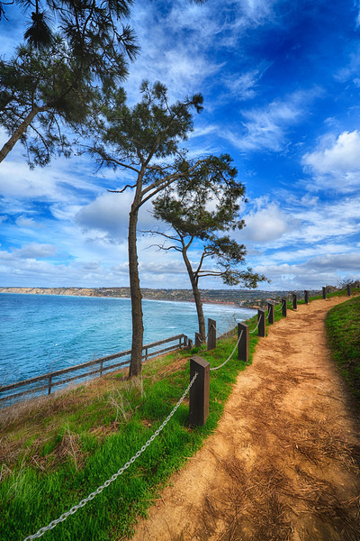A nice path along the cliffs in La Jolla.