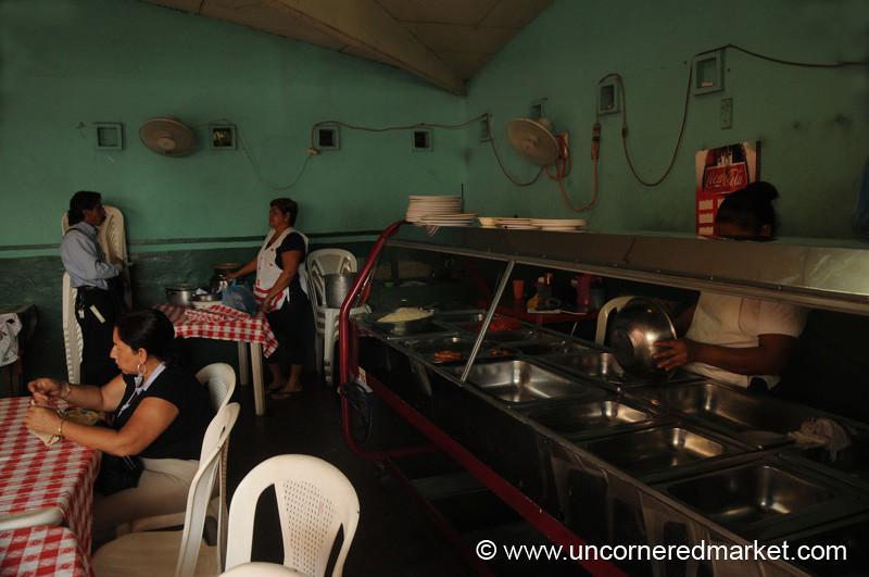 Leon, Nicaragua: Cafeteria Eating
