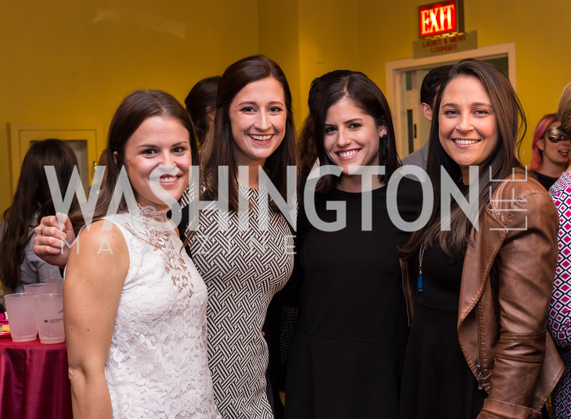 Emily Patch, Caroline Orr, Erika Taylor, Lindsey Robinson Young Patrons National Theatre Fundraiser November 30, 2017 Photo by Naku Mayo