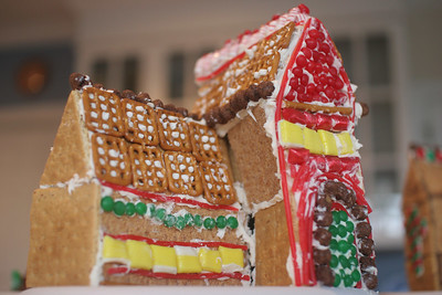 Gingerbread houses & a family walk in NC
