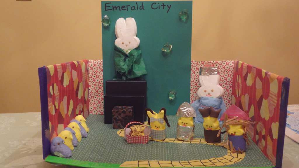""". \""""Follow the Yellow Peep Road (The Wizard of Peeps),\"""" by Maria Huebsch, 11, of Hudson, Wis."""