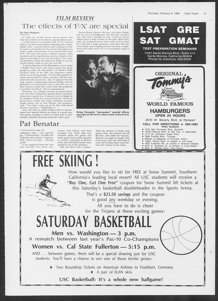 Daily Trojan, Vol. 100, No. 20, February 06, 1986