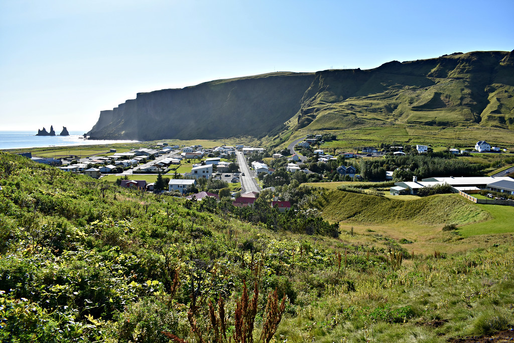 Town of Vik on Iceland's South Coast