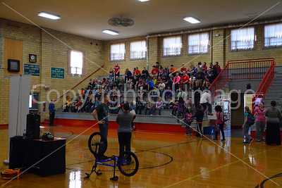 Allen Jr. High Matt Wilhelm BMX - Anti-bullying Presentaion, Oct. 8, 2014, And The NIU Steel Band Performance, Oct. 10, 2014.