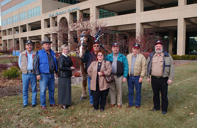21865 Children's Hospital Kids with Draft Horse Group Shot at Ruby Memorial