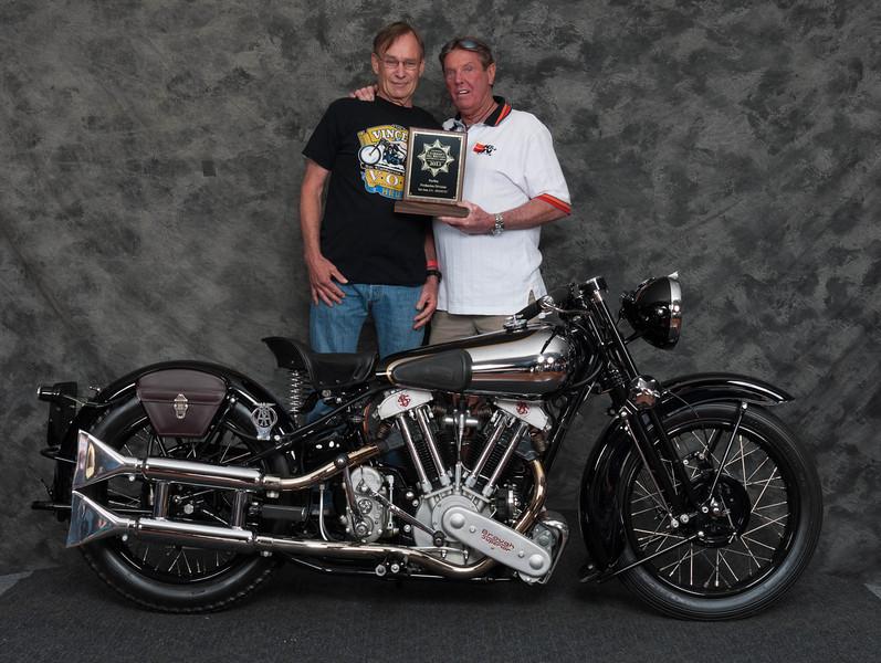 Bob Mitchell, Winner of Pre War Production Class - 1938 Brough-Superior SS100