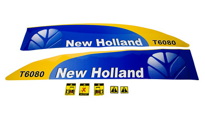 FORD NEW HOLLAND T6080 SERIES BONNET DECAL SET