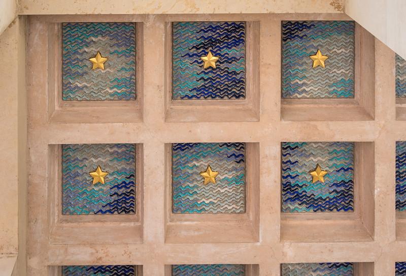 Loggia ceiling detail