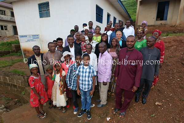NIGERIA, Abuja, Jikwoyi. Community members, Ghihon Hebrews' Synagogue (8.2015)