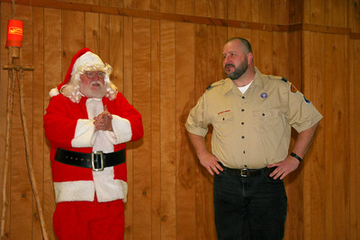 Cub Scouts with Santa
