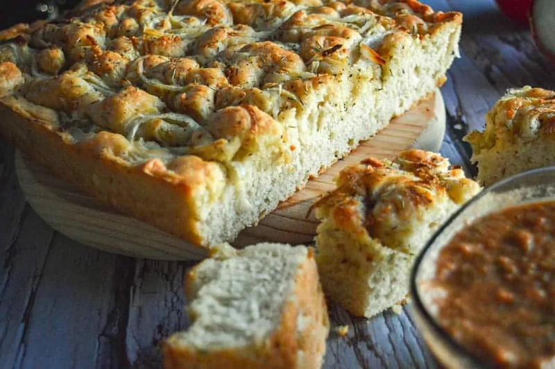 Herbed Focaccia Bread - Vegan Italian Recipes