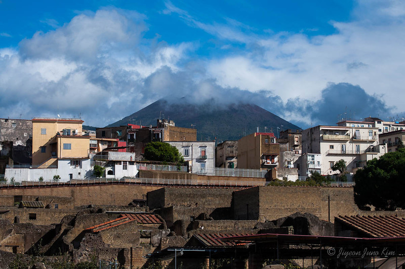 The View of Mount Vesuvius from Herculaneum