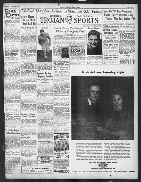 Daily Trojan, Vol. 27, No. 18, October 15, 1935