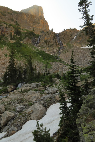 More waterfalls and snow in Upper South Cascade Canyon