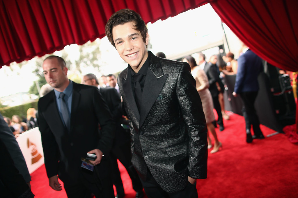. Singer Austin Mahone attends the 56th GRAMMY Awards at Staples Center on January 26, 2014 in Los Angeles, California.  (Photo by Christopher Polk/Getty Images for NARAS)