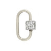 Marla Aaron Stoned Lock for Jewels by Grace Exclusive, White Gold 0