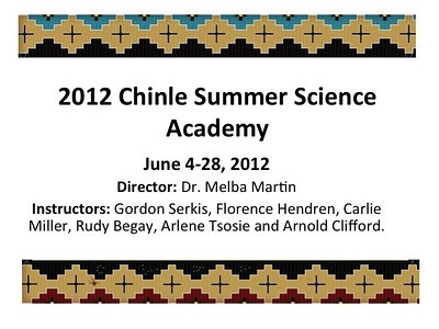 2012 Chinle Summer Science Academy