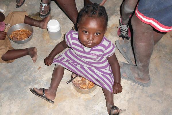 12-11-26 Haiti Feeding Program - Children being Fed