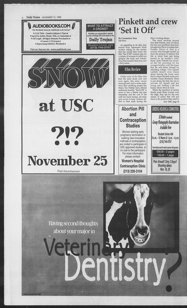 Daily Trojan, Vol. 129, No. 52, November 12, 1996