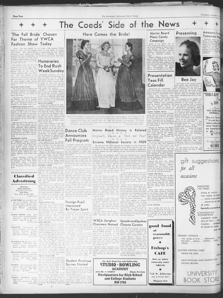 Daily Trojan, Vol. 30, No. 17, October 11, 1938
