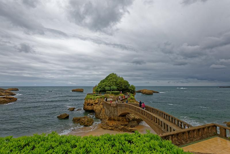 Biarritz, rocher le Basta