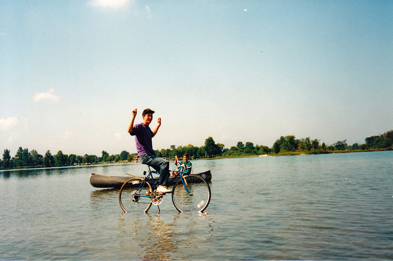 Jeff rides on water