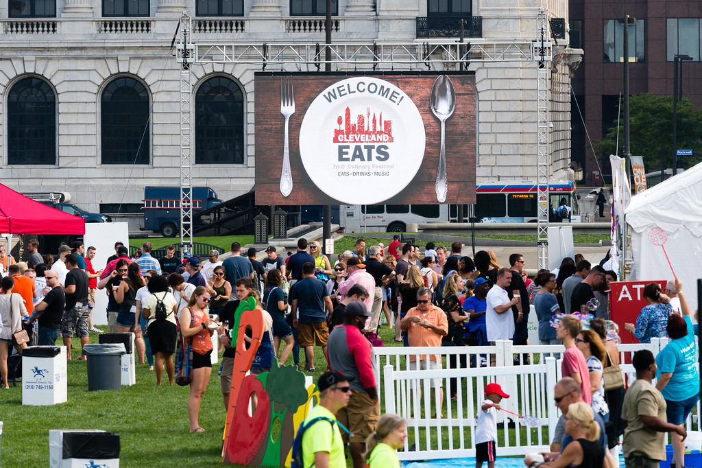 . Cleveland Eats is 10 a.m. to midnight Sept. 15. More than 30 restaurants, caterers and makers of treats will dish out their mouth-watering specialities in small plates from stands on the grassy lawns of Mall B atop the Huntington Convention Center.  For more information, visit tri-c.edu/cleveland-eats. (Courtesy of Cuyahoga Community College)