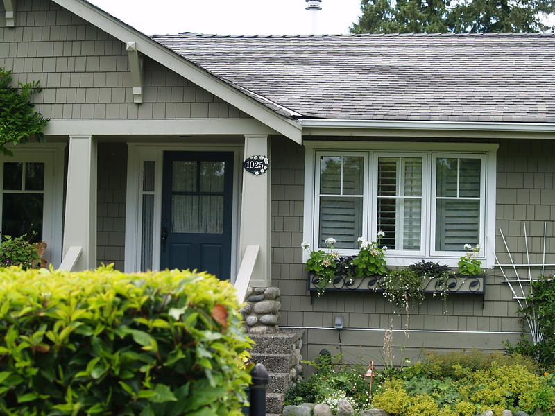 """This is a house in North Vancouver. I just happened to be paying attention as we were dirving back from Lynn Canyon and snapped this shot. We did knock on the door to ask permission but no one was home - why? For Stargate fans, you'll recognize this house as """"Sam's house"""" (2006)."""