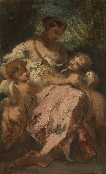 Venus and Two Cupids