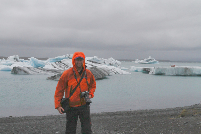 A cold day in the iceberg lagoon in Iceland