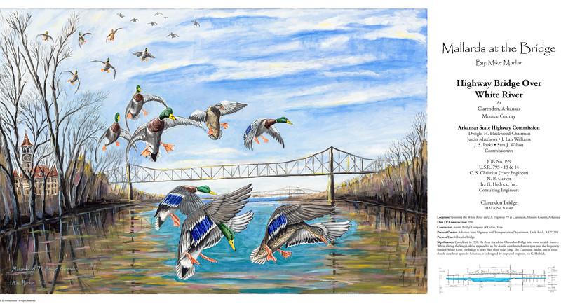 Mallards in the Timber - 2019 Arkansas Duck Stamp