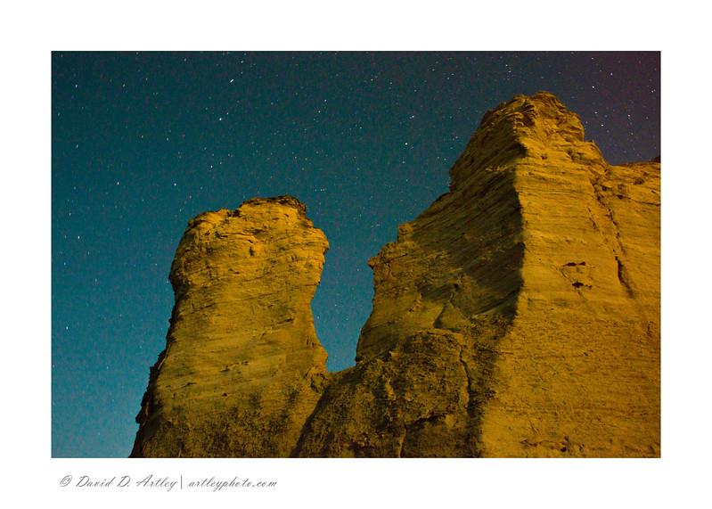 Night sky, Monument Rocks, KS