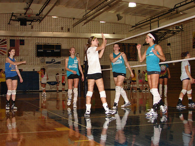 Valley Lutheran volleyball/practice