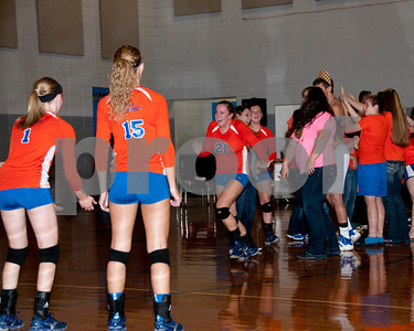 Marshall County Varsity Volleyball vs. Christian Fellowship School, October 9, 2012, 4th District Semi-Final Game. Lady Marshals Won 3-1.