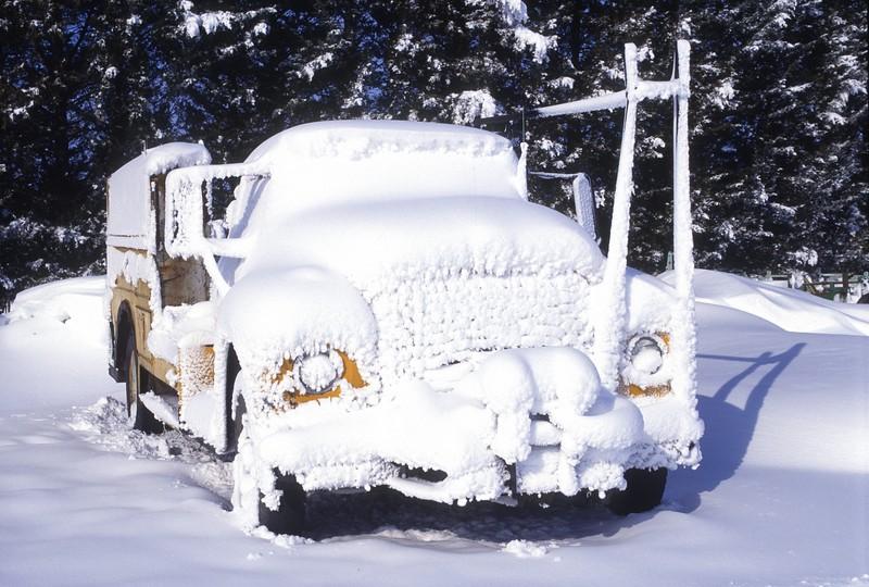 Snow Encrusted Truck