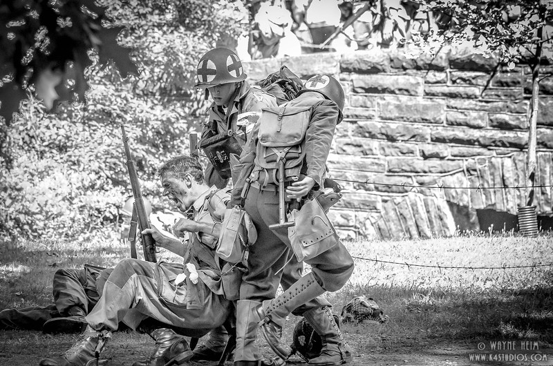 Medics to Rescue    Black & White Photography by Wayne Heim