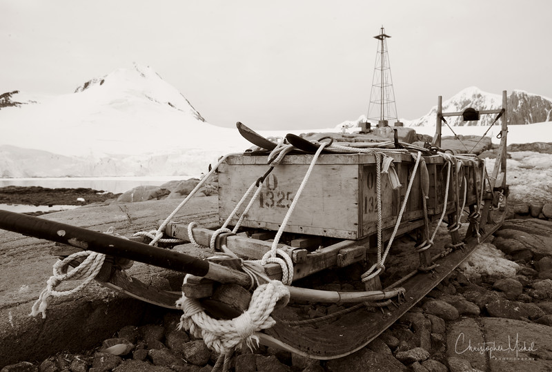 Sled at Port Lockroy