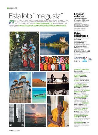 Photos in magazines
