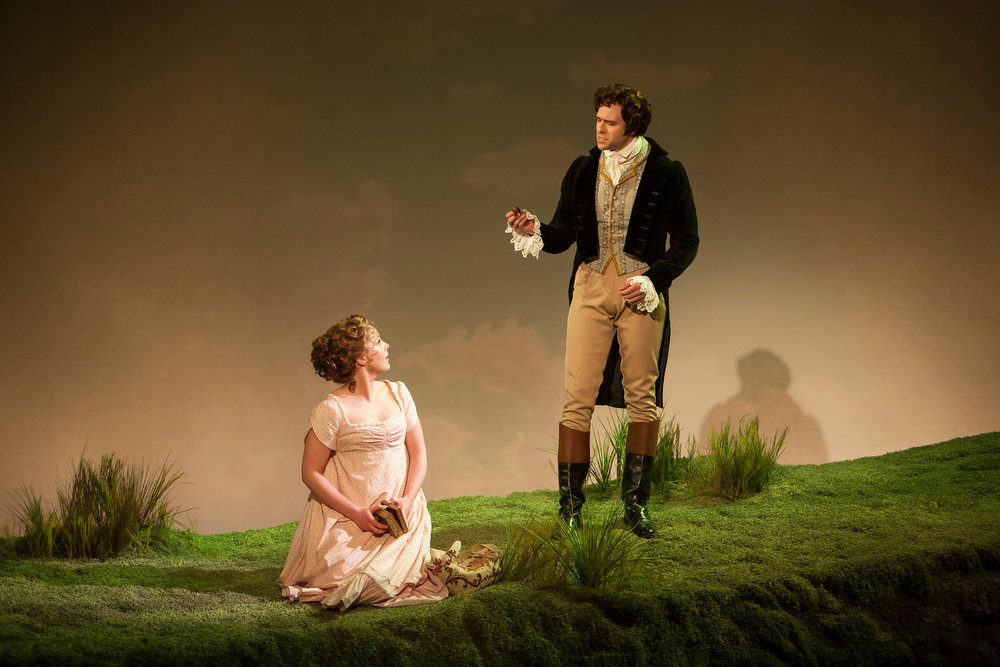 """. Mary Michael Patterson and Jeremiah James the world premiere production of \""""Sense & Sensibility The Musical,\"""" directed by Marcia Milgrom Dodge.   Photo by Jennifer M. Koskinen"""