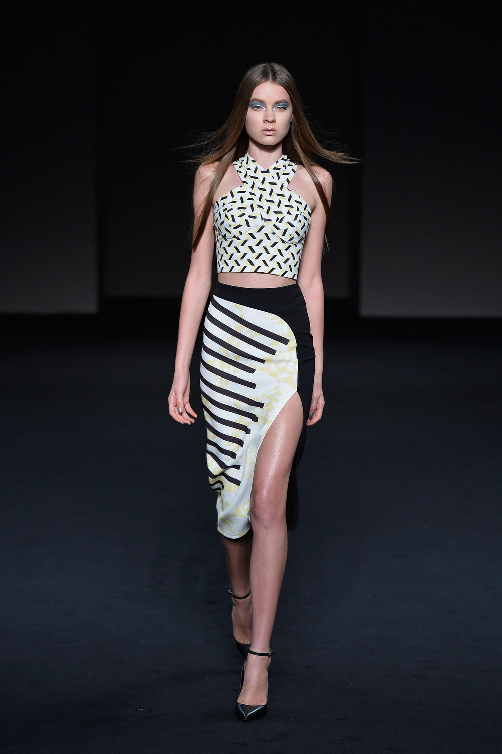. A model showcases designs on the runway at the By Johnny show during Mercedes-Benz Fashion Week Australia Spring/Summer 2013/14 at Carriageworks on April 8, 2013 in Sydney, Australia.  (Photo by Stefan Gosatti/Getty Images)