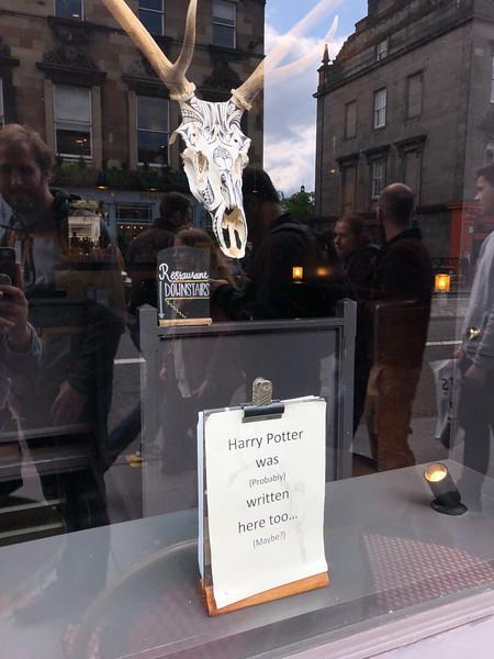Window sign in Edinburgh