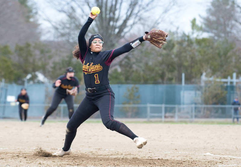 04/11/19  Wesley Bunnell | Staff  New Britain softball defeated Newington on the road 4-1 on Thursday afternoon. Josleen Rivera (1).